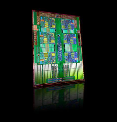 AMD Istanbul hexacore die
