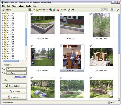 Jalbum 8.3.3 screenshot (481 pix)