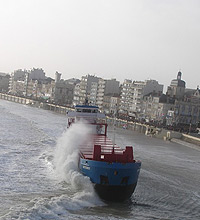 Vastgelopen boot