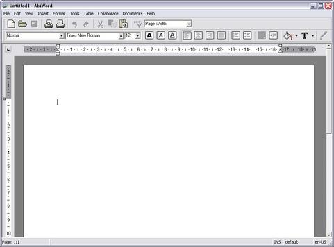 AbiWord screenshot (481 pix)