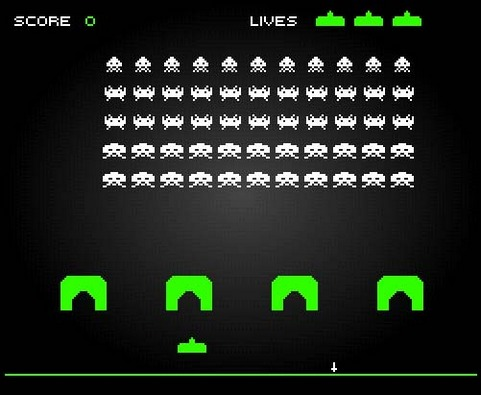 Space invaders (481 pix)
