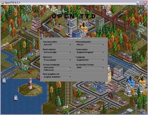 OpenTTD 0.7.1 screenshot (481 pix)