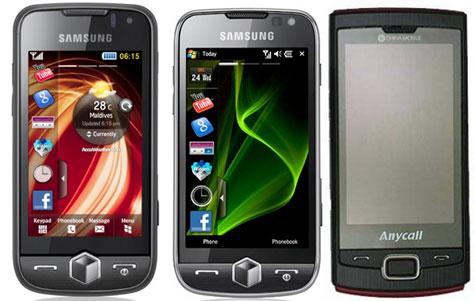 Vlnr: Samsung Jet, Omnia II en Omnia Lite