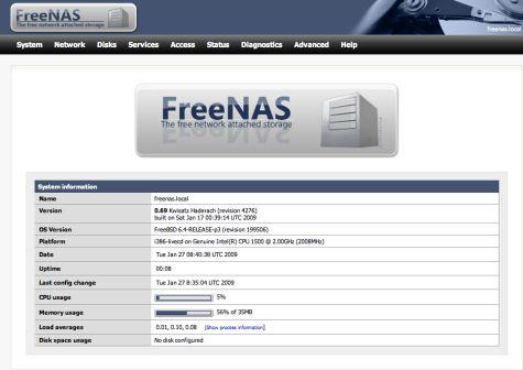 Software-update: FreeNAS 0 7 2 7529 - Computer - Downloads