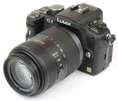 Panasonic Lumix G1 schuinvoor