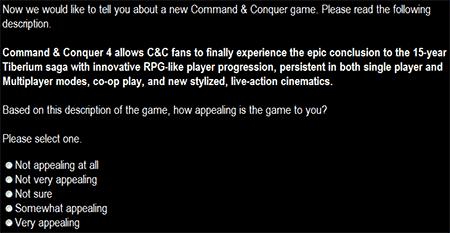 Command & Conquer 4 enquete
