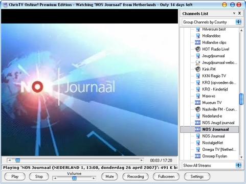 ChrisTV Online 4.00 screenshot (481 pix)