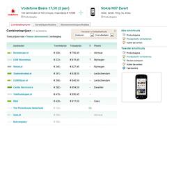 Telecom Pricewatch combinatieprijzen