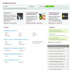 Tweakers.net Jobs homepage