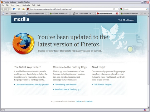 Mozilla Firefox 3.5.1 screenshot (481 pix)