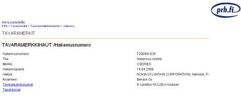 Nokia C-serie patent