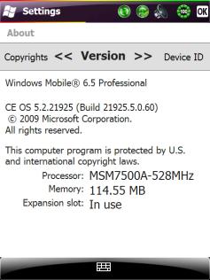 Windows Mobile 6.5.1