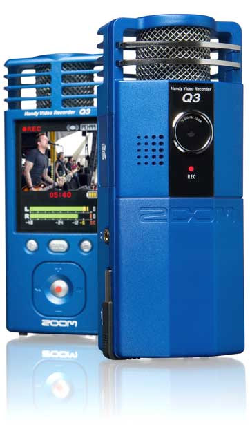 Samson Zoom Q3 camcorder richtmicrofoons