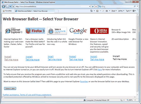 Browserkeus in Windows 7
