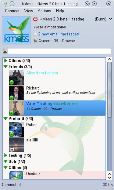 KMess 2.0 screenshot