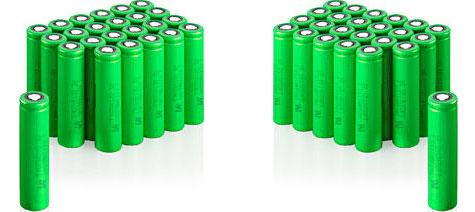 Sony Olivine-batterijen
