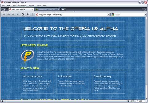 Opera 10.00 build 1699 bèta 3 screenshot (481 pix)