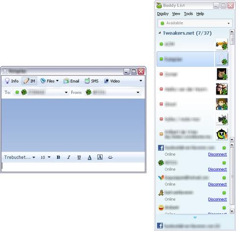 Digsby screenshot (481 pix)