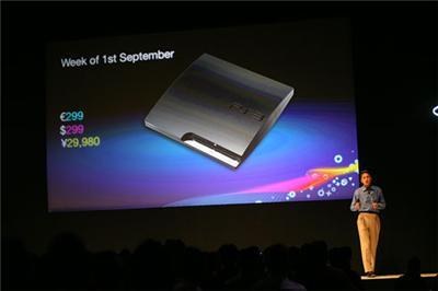 PlayStation 3 Slim aankondiging op Gamescom
