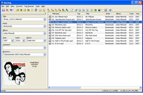 Mp3tag screenshot (481 pix)
