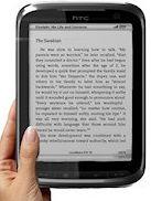 Mockup: e-reader van HTC