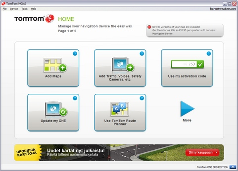 TomTom Home 2.7 screenshot (481 pix)