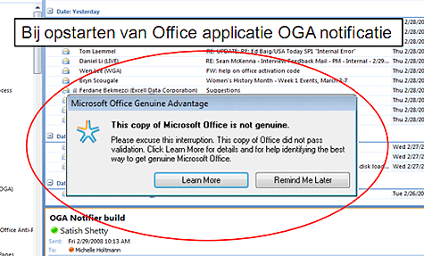 Office Genuine Advantage (bron: Microsoft)