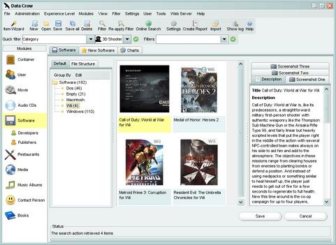 Data Crow screenshot (481 pix)