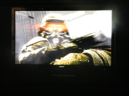 Killzone 2 op 3d-scherm Sony