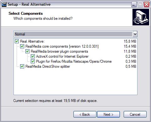 Real Alternative 2.0.0 bèta screenshot (481 pix)