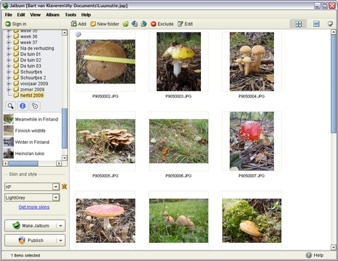 Jalbum 8.4 screenshot (481 pix)