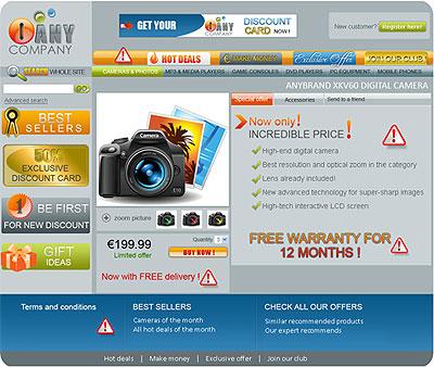 Een foute webwinkel, volgens de EU
