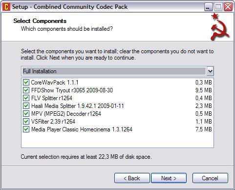 Combined Community Codec Pack 9.9.2009 screenshot (481 pix)