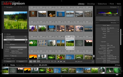Adobe Lightroom screenshot (481 pix)