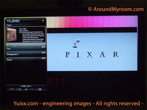 Screenshot van in aanbouw zijnde Yuixx-interface
