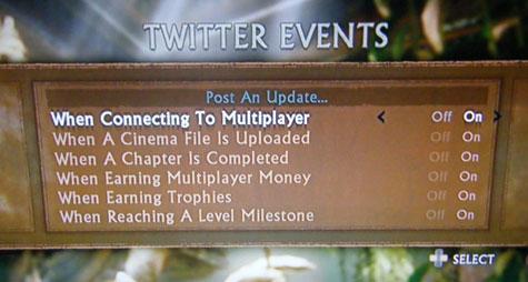 Twitter vanuit Uncharted 2