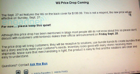 Wii prijsverlaging