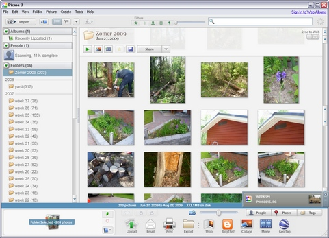 Google Picasa 3.5 build 79.67 screenshot (481 pix)