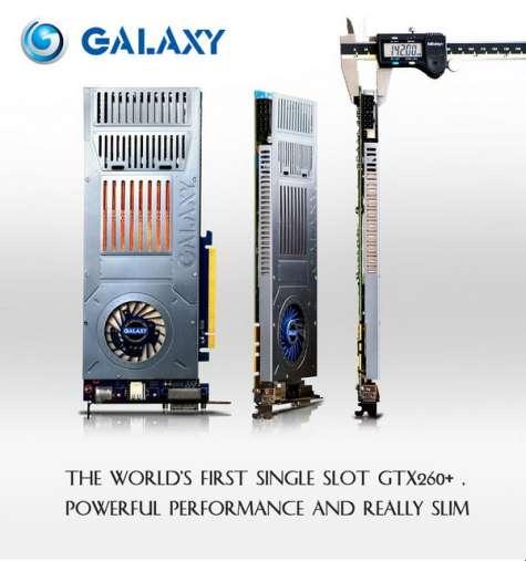 Galaxy Single Slot GTX260