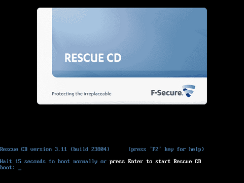 F-secure Linux Rescue CD 3.11 screenshot (481 pix)