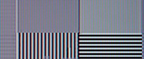 JVC LT-42DV1 hqv video resolution loss test