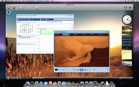 VMware Fusion screenshot (481 pix)