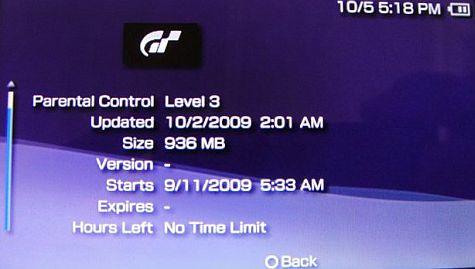 Nieuwe eigenschappen bij game-info op PSP Go