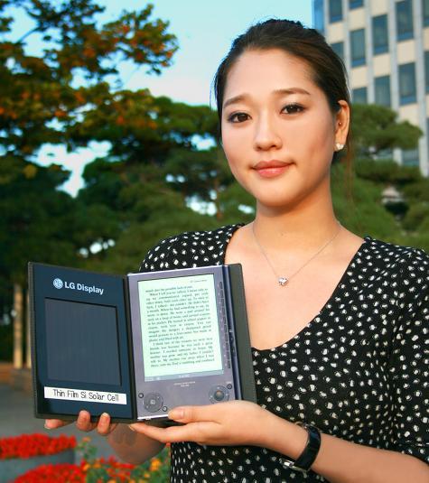 E-reader met zonnecellen van LG Display