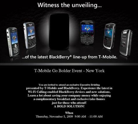 Blackberry Bold 2 uitnodiging