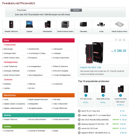 Pricewatch 3.0 homepage