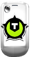 HTC Tatoo met T.net-logo