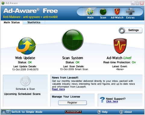 Ad-Aware 8.1.0 screenshot (481 pix)