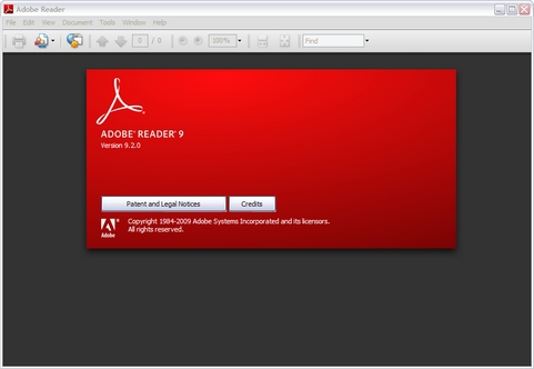 Adobe Reader 9.2 screenshot (481 pix)