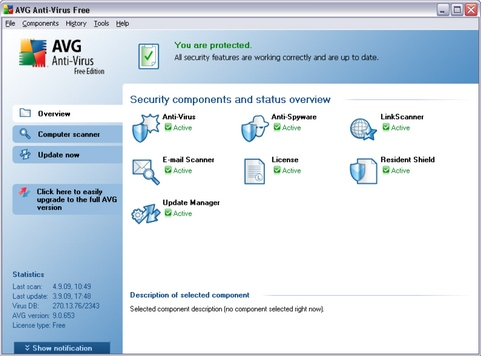 AVG Anti-Virus Free Edition 9.0 screenshot (481 pix)